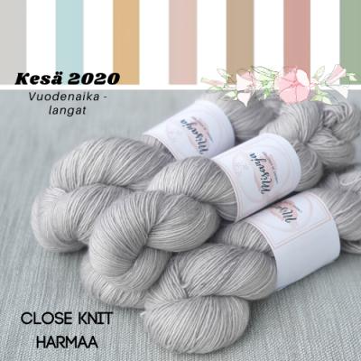 Close knit harmaa
